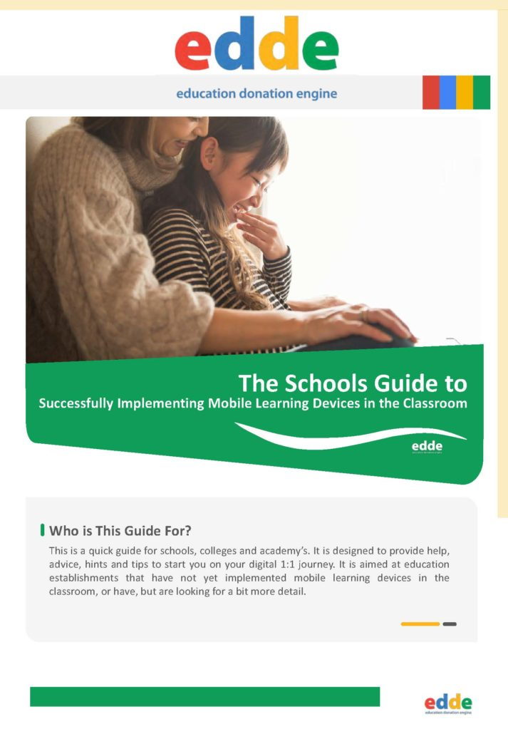 The Schools Guide to Successfully Implementing Mobile Learning Devices in the Classroom